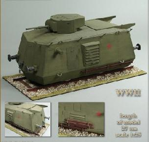 Modele papierowe BDT Heavy Armored Railroad Car