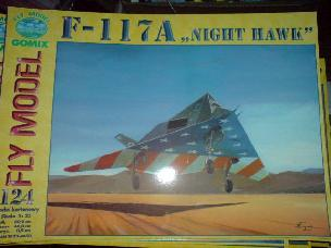 "Modele papierowe F-117A ""NIGHT HAWK"" (GOMIX-124)"