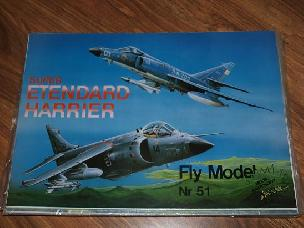 Modele papierowe Super Etendard i Harrier (FLY-51)