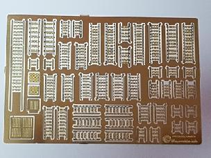 Modele papierowe Trapy (fototrawione) - Gangways (photo etch) - Japan Fleet ( 1:200 ) No.01
