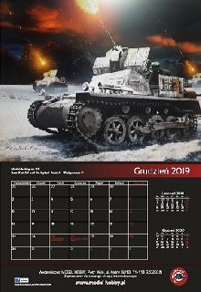 Kalendarz, Calendar, Kalender, カレンダー (near 320x480mm - 13 cards with 12 graphics) With images made for our publishing house. Year 2019.